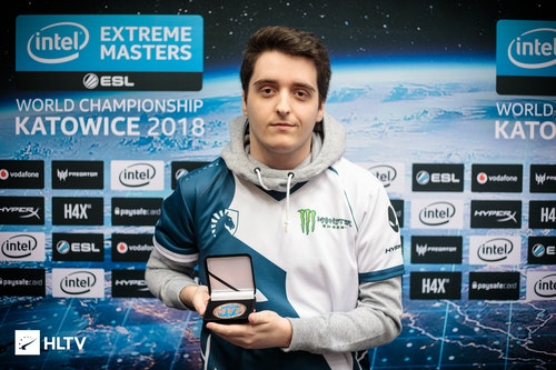 During IEM Katowice, NAF received his MVP medals for SL i-League Invitational and cs_summit 2