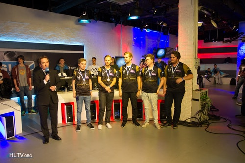 NiP presented with their second place medals