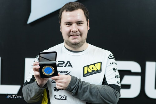 GuardiaN with his HLTV MVP medal for Counter Pit Season 2 Finals