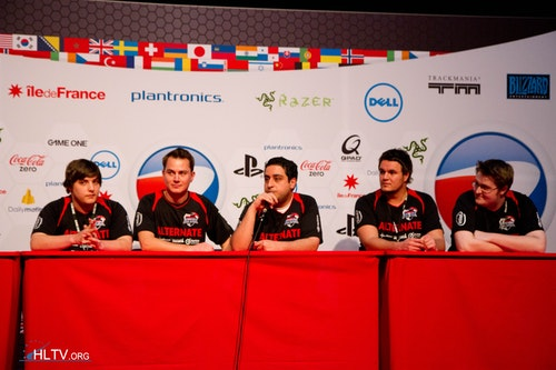 Alternate at press conference after winning 16-8 against fnatic on the main stage