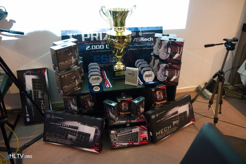 All of the prizes, medals and trophies for the finalists