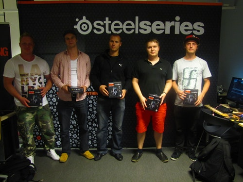 Team Twista (3rd place) with SteelSeries Kana CS:GO editions