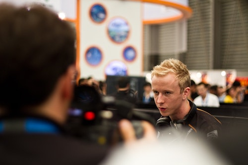 cArn while interviewed by Eurosport