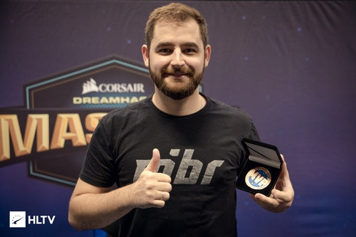 FalleN got his MVP medal for ZOTAC Cup Masters