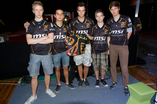 fnatic with signed mousepad
