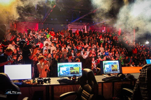 The crowd after the grand final